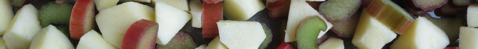Appel-rabarber crumble